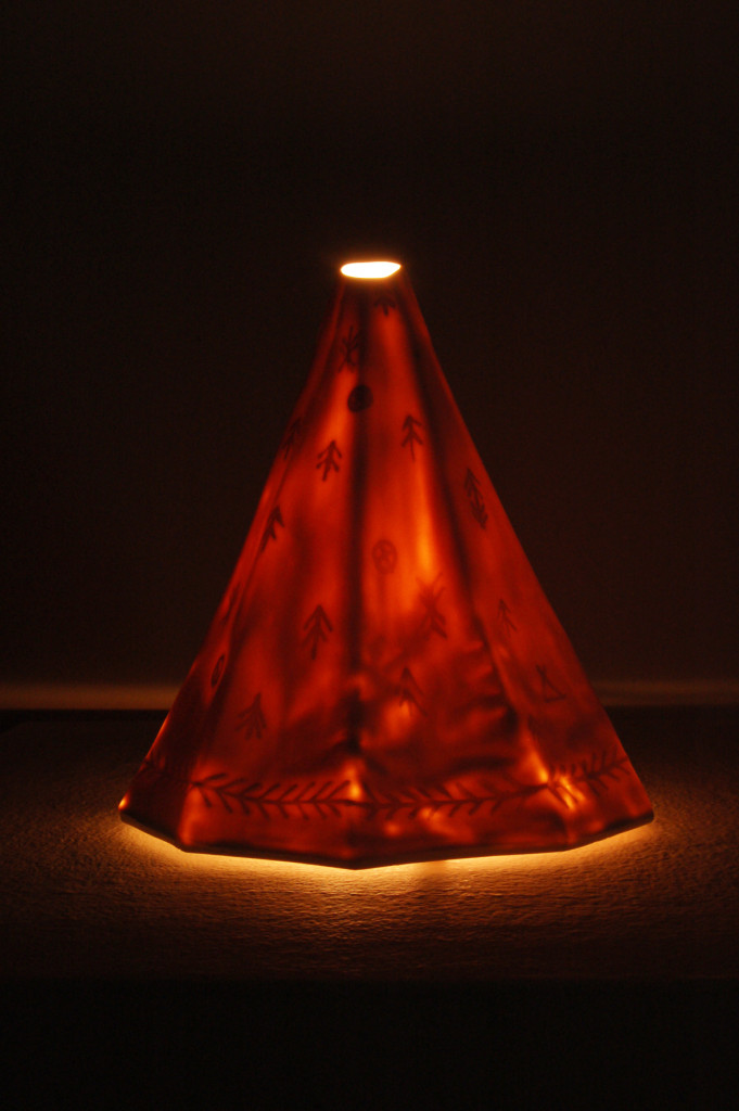 TEEPEE lamp- porcelain, web
